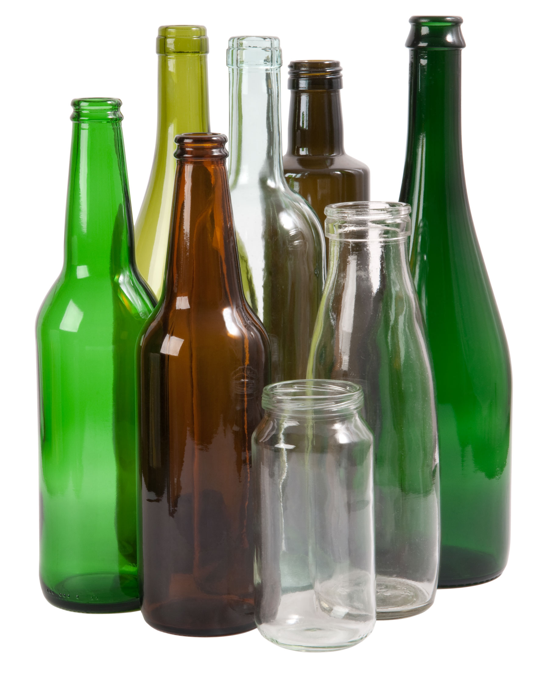 co-mingled recycling curbside pick-up glass bottles