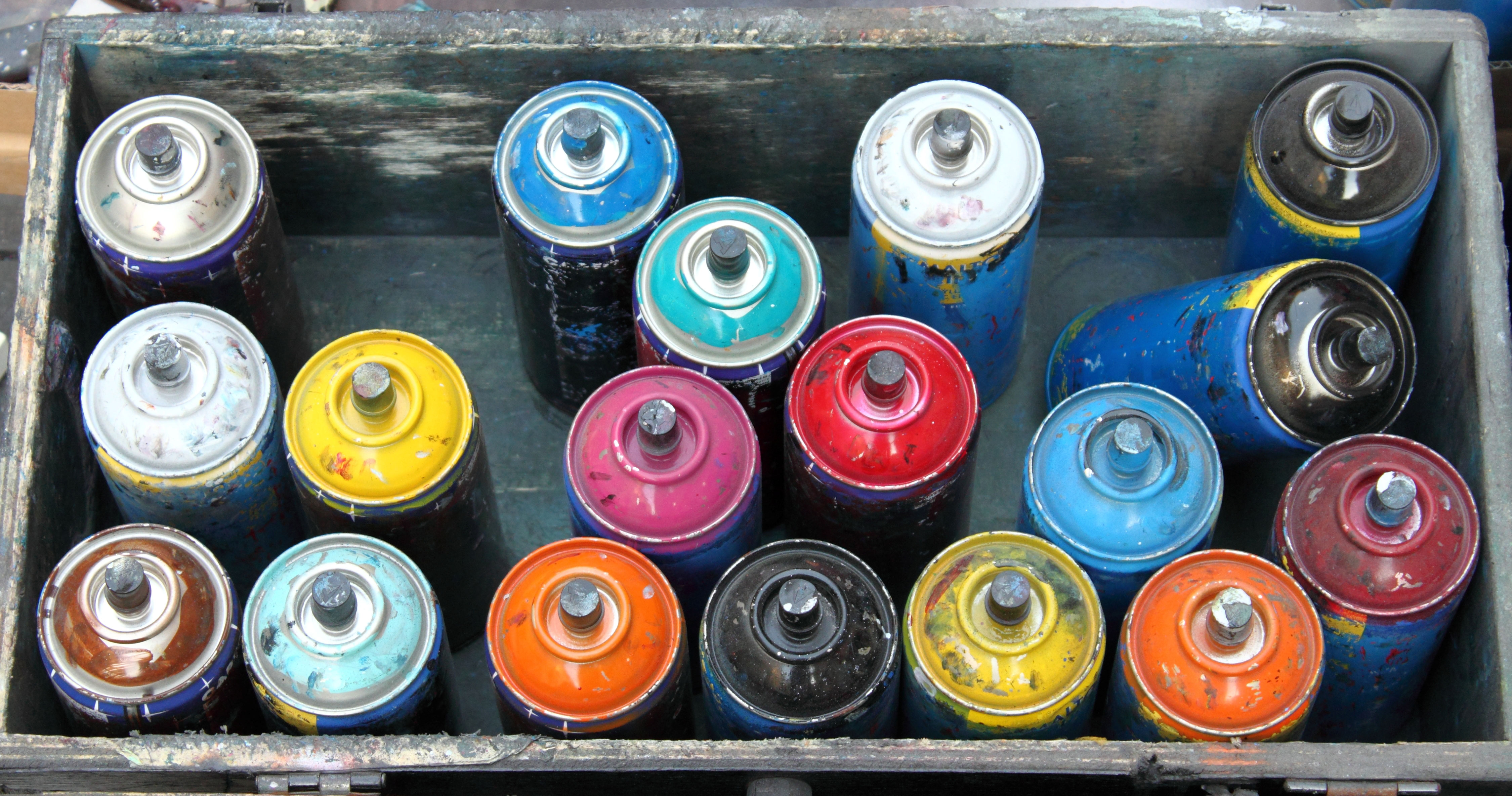co-mingled recycling curbside pick-up paint cans