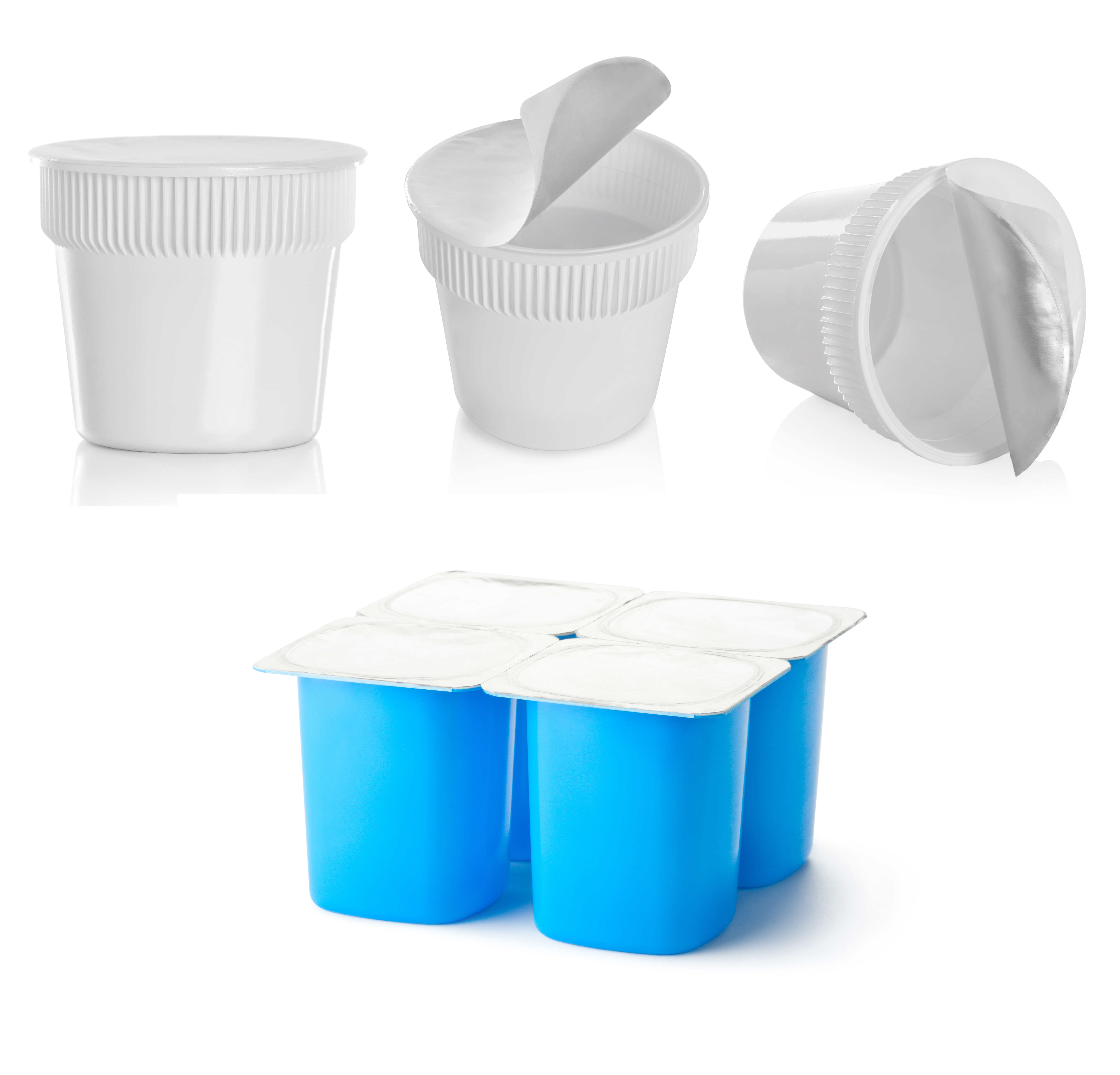 co-mingled recycling curbside pick-up plastic containers